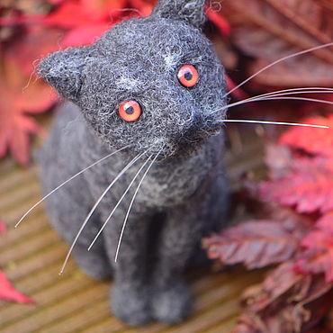 Куклы и игрушки ручной работы. Ярмарка Мастеров - ручная работа Игрушки:  Черный кот Бэлор. Handmade.