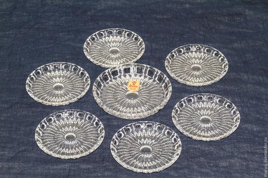 Винтажная посуда. Ярмарка Мастеров - ручная работа. Купить Хрустальны подставки под стаканы, Nachtmann, Германия. Handmade. Белый, винтаж