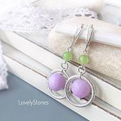 Украшения handmade. Livemaster - original item Lavender earrings Blooms on English locks silver. Handmade.