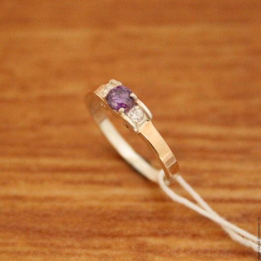 Кольца ручной работы. Ярмарка Мастеров - ручная работа. Купить Серебряное кольцо Волна с золотыми накладками, серебро 925. Handmade.