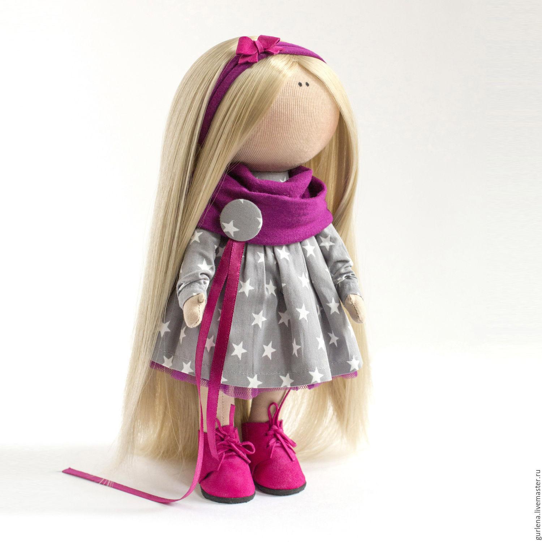 Текстильная кукла от макушки до пяточек Ярмарка Мастеров 12
