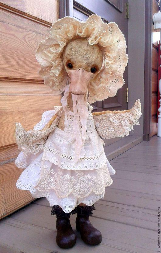 Мишки Тедди ручной работы. Ярмарка Мастеров - ручная работа. Купить Утка Гугуша (50 см). Handmade. Желтый, винтаж