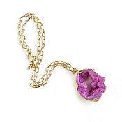 Украшения handmade. Livemaster - original item Pink pendant on a chain