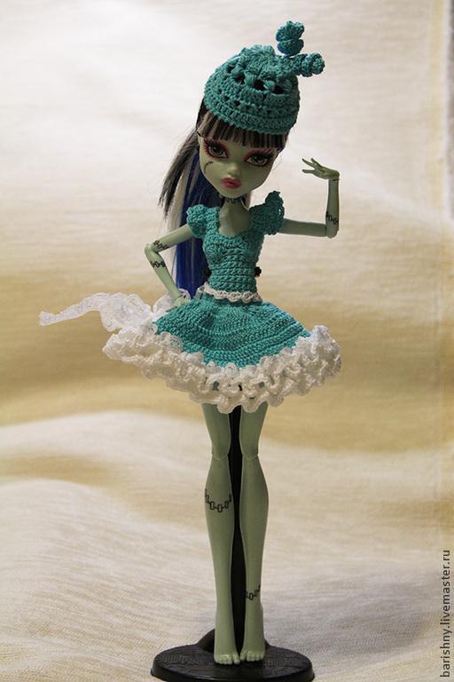 Одежда для кукол ручной работы. Ярмарка Мастеров - ручная работа. Купить Платье для Monster High. Handmade. Вязание крючком