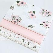 Хлопок Цветы розовые