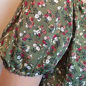 Одежда ручной работы. Ярмарка Мастеров - ручная работа Платье из штапеля Шиповник. Handmade.