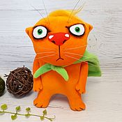 Куклы и игрушки handmade. Livemaster - original item The world won`t save itself! Red cat toy by Vasya Lozhkin. Handmade.