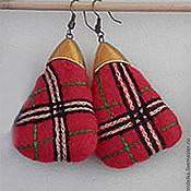 Украшения ручной работы. Ярмарка Мастеров - ручная работа серьги burberry красные. Handmade.
