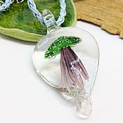 Украшения handmade. Livemaster - original item Magic Mushroom Jellyfish Pendant. Handmade.