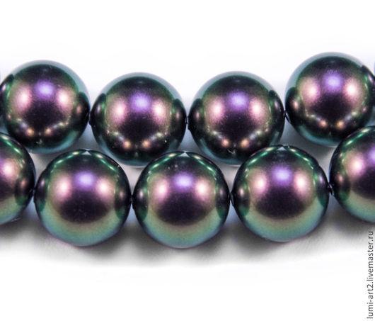 Для украшений ручной работы. Ярмарка Мастеров - ручная работа. Купить 12мм Iridescent Purple Жемчуг Сваровски 943 Swarovski Perl. Handmade.