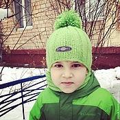 Аксессуары ручной работы. Ярмарка Мастеров - ручная работа Детский комплект шапка и снуд. Handmade.