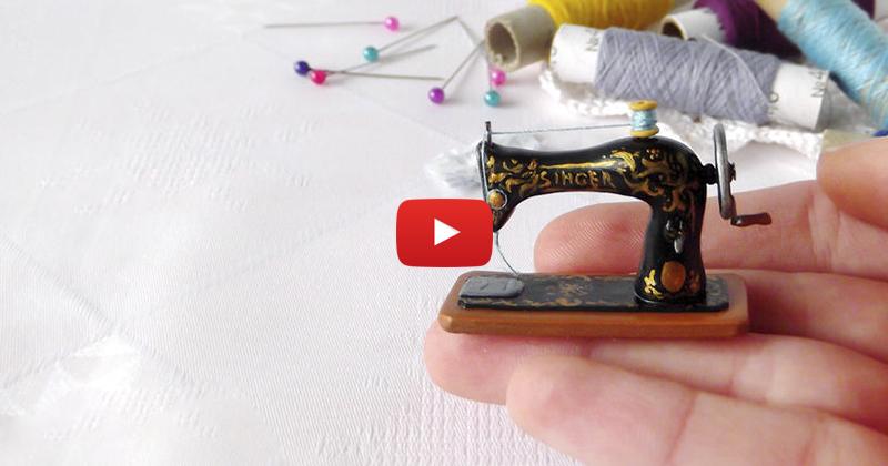 Швейная машинка для кукол своими руками 875