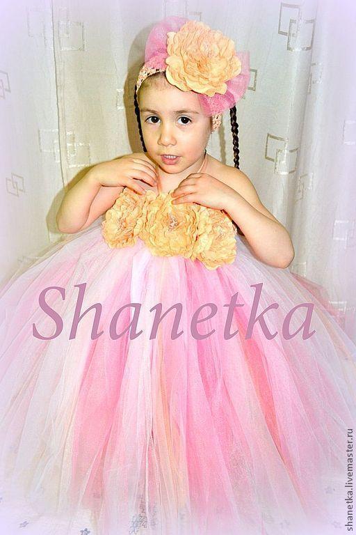 Одежда для девочек, ручной работы. Ярмарка Мастеров - ручная работа. Купить Пышное платье для девочки Букет цветов. Handmade.