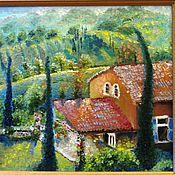 """Картины и панно ручной работы. Ярмарка Мастеров - ручная работа """"Отпуск в Тоскане"""" картина маслом. Handmade."""