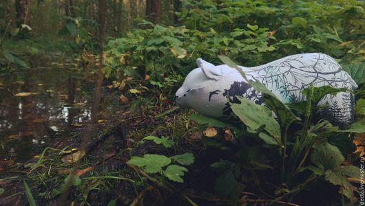 Коллекционные куклы ручной работы. Ярмарка Мастеров - ручная работа. Купить Антуражный медведь. Handmade. Голубой, лес, хвоя