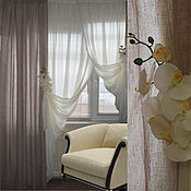 Для дома и интерьера handmade. Livemaster - original item The curtains in the bedroom linen Bouquet de lin. Handmade.