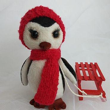 Куклы и игрушки ручной работы. Ярмарка Мастеров - ручная работа Пингвиненок Пиня. Handmade.