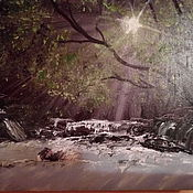 Картины и панно ручной работы. Ярмарка Мастеров - ручная работа Луч света. Handmade.