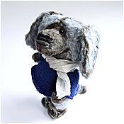 Куклы и игрушки ручной работы. Ярмарка Мастеров - ручная работа Голубой щенок, собачка - авторская коллекционная игрушка. Handmade.