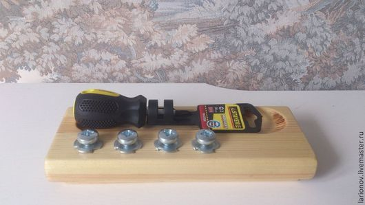 Развивающие игрушки ручной работы. Ярмарка Мастеров - ручная работа. Купить отвертка. Handmade. Материалы для захвата, мелкая моторика, желтый