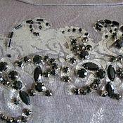 Винтажная одежда ручной работы. Ярмарка Мастеров - ручная работа Винтажная одежда: Нарядная красивая блуза с камнями французской фирмы. Handmade.