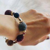 Украшения handmade. Livemaster - original item Bracelets made of felted beads, natural stones and accessories. Handmade.