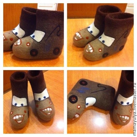 """Обувь ручной работы. Ярмарка Мастеров - ручная работа. Купить Валенки детские """"Тачки. Мэтр"""". Handmade. Валенки, тачки"""