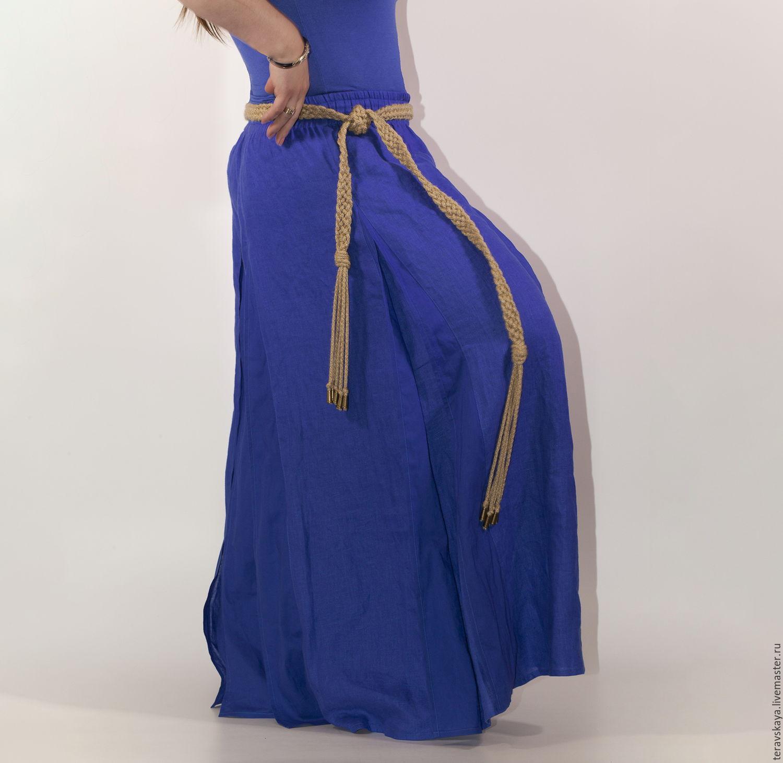 Купить длинную юбку большого размера в магазине