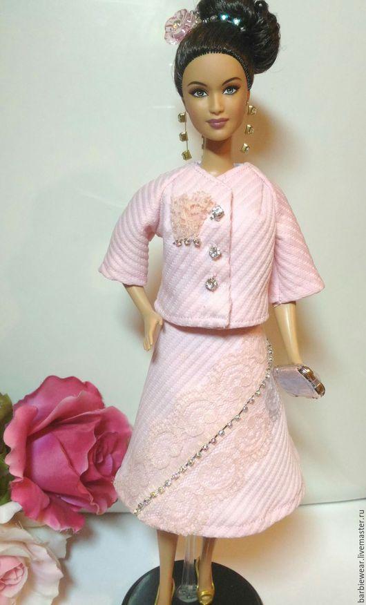 Одежда для кукол ручной работы. Ярмарка Мастеров - ручная работа. Купить Костюм Ретро-Гламур. Handmade. Розовый, костюм