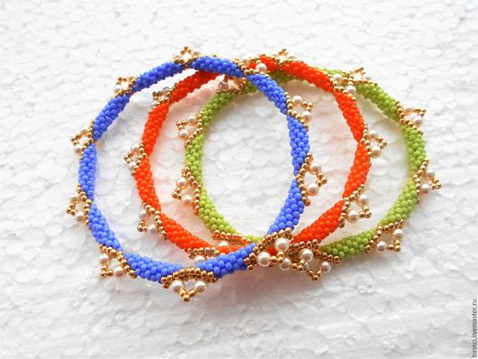 Браслеты ручной работы. Ярмарка Мастеров - ручная работа. Купить Triple bracelet. Handmade. Синий, синий браслет, подарок