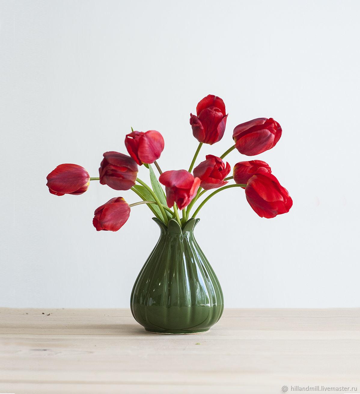Vase 'Melon Emerald M' 0.6 l, Vases, Vyazniki,  Фото №1