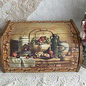 """Для дома и интерьера ручной работы. Ярмарка Мастеров - ручная работа Хлебница """"Дом полная чаша"""". Handmade."""