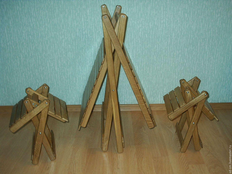 Складные стулья и столы из дерева своими руками