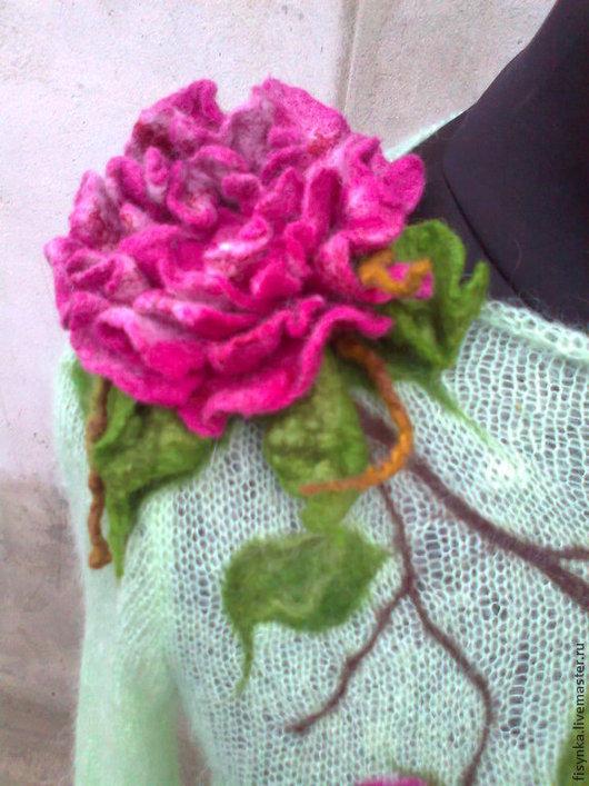 Кофты и свитера ручной работы. Ярмарка Мастеров - ручная работа. Купить свитерок вязаный. Handmade. Салатовый, свитер теплый