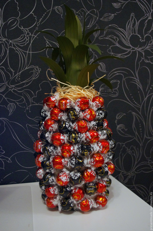 Букеты из конфет, декор бутылок вина и шампанского Olga Malinovskaya 6
