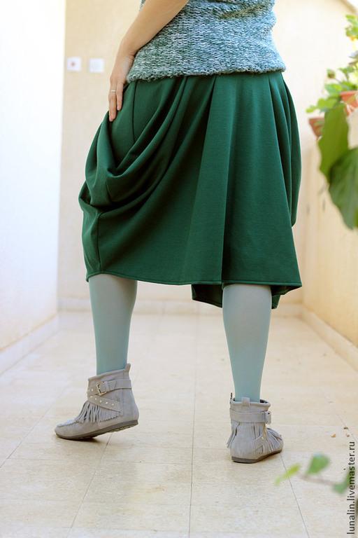 Юбка брюки зеленые