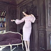 Одежда ручной работы. Ярмарка Мастеров - ручная работа Платье с воздушными рукавами.. Handmade.