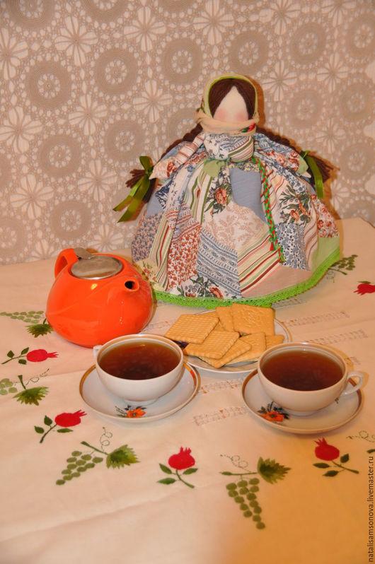 Кухня ручной работы. Ярмарка Мастеров - ручная работа. Купить Кукла на чайник. Handmade. Голубой, Баба на чайник, кукла на чайник