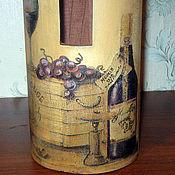 Сувениры и подарки ручной работы. Ярмарка Мастеров - ручная работа Коробка для винной бутылки. Handmade.