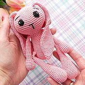 Куклы и игрушки handmade. Livemaster - original item Bunny-a friend knitted. Handmade.