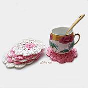 Для дома и интерьера handmade. Livemaster - original item Crocheted napkins - coasters. Handmade.