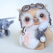 Куклы и игрушки ручной работы. Ярмарка Мастеров - ручная работа Авиатор Оливер коллекционная авторская игрушка сова. Handmade.