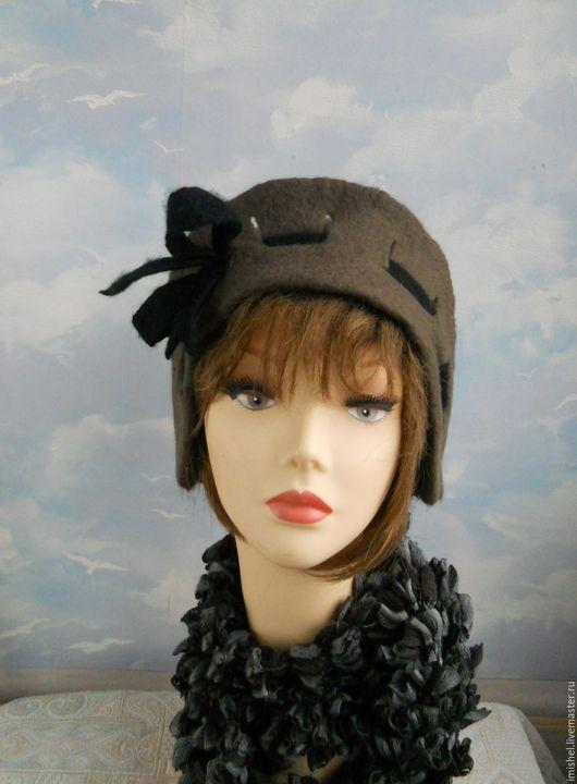 """Шляпы ручной работы. Ярмарка Мастеров - ручная работа. Купить шляпка """"Ретро"""". Handmade. Валяная шляпа, ретро стиль"""