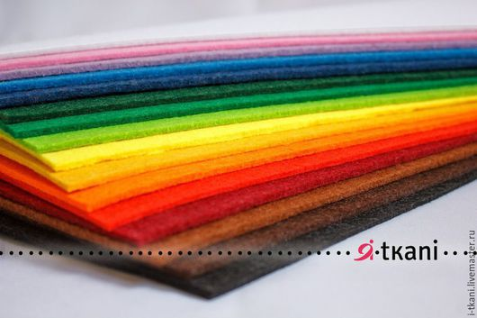 ОБНОВЛЁННЫЙ набор фетра 3мм. `Все цвета` - 16 цветов!!!  Китай. 100% пэ. 20х30см - 650руб 30х40см - 1300руб.