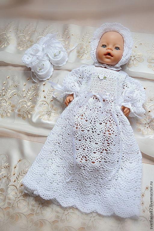 """Крестильные принадлежности ручной работы. Ярмарка Мастеров - ручная работа. Купить Крестильный комплект """"Принцесса"""". Handmade. Белый, крестильное платье"""