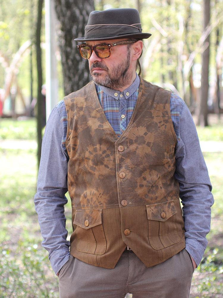 Old'n ' Gold 02 men's suede vest, Mens vests, Moscow,  Фото №1