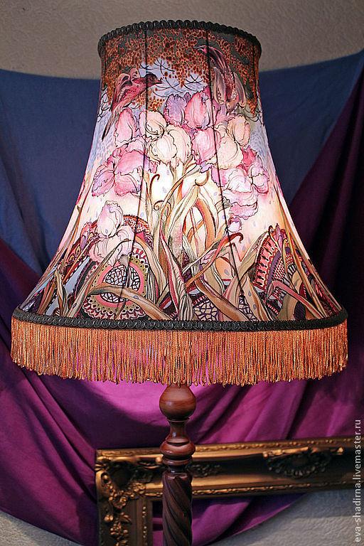торшер светильник светильник напольный лампа авторский светильник абажур ева шадрина