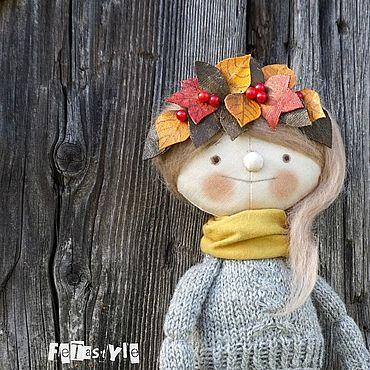 Куклы и игрушки ручной работы. Ярмарка Мастеров - ручная работа Листопад Кукла интерьерная Осенний подарок. Handmade.