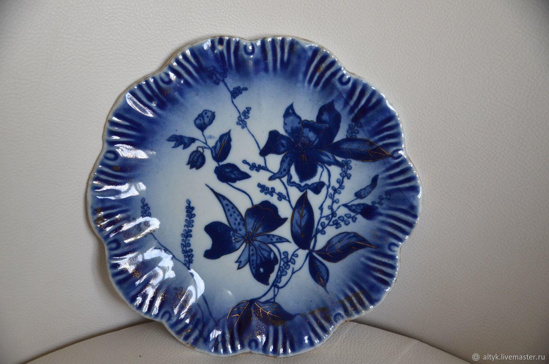 Винтаж: Антикварная фарфоровая тарелка Викторианской эпохи. Англия, Тарелки винтажные, Москва,  Фото №1