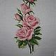Картины цветов ручной работы. Цветы: розы, тюльпаны, лилии. ElenaLeo Вышитые картины,браслеты. Интернет-магазин Ярмарка Мастеров.
